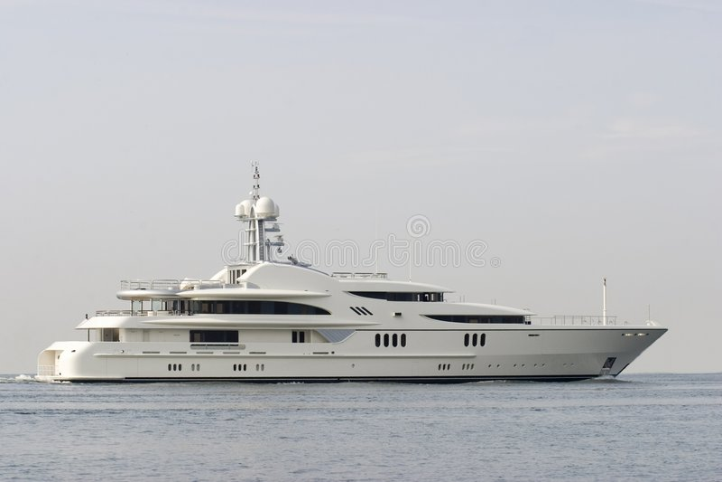 miljoen dollar Jacht royalty-vrije stock foto's