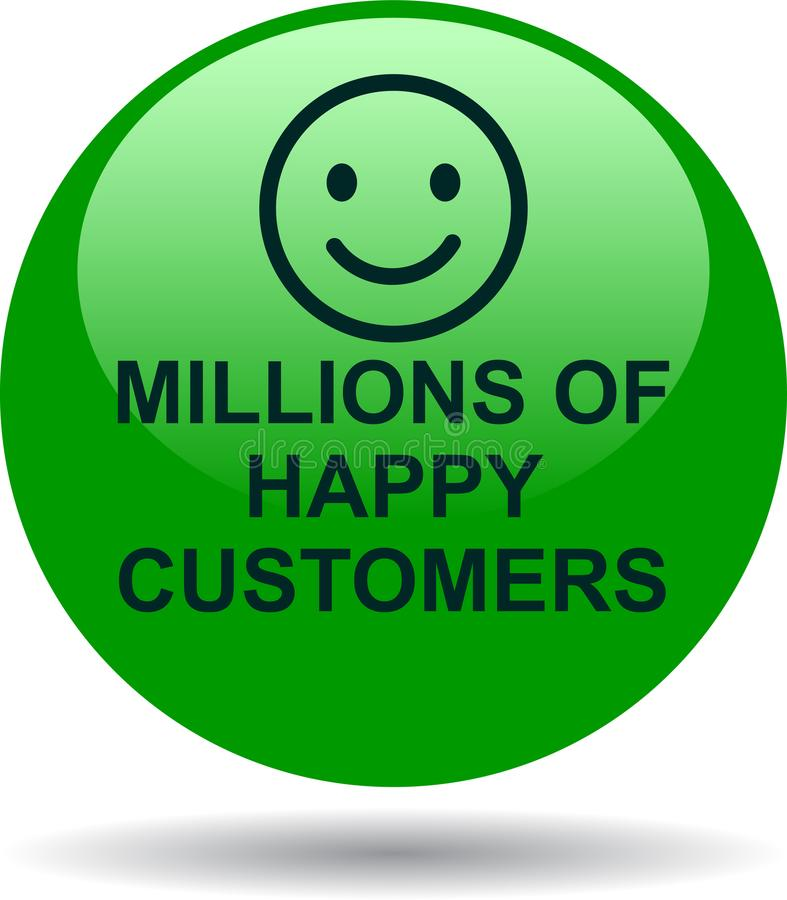 Miljoenen gelukkige klanten vector illustratie