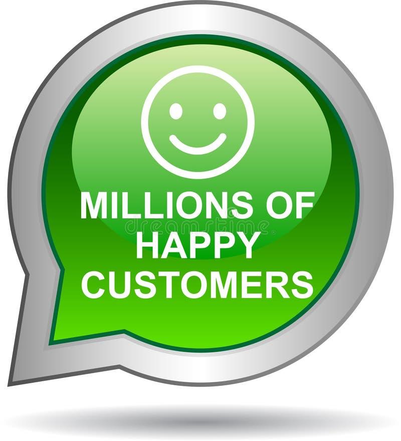 Miljoenen gelukkige klanten stock illustratie