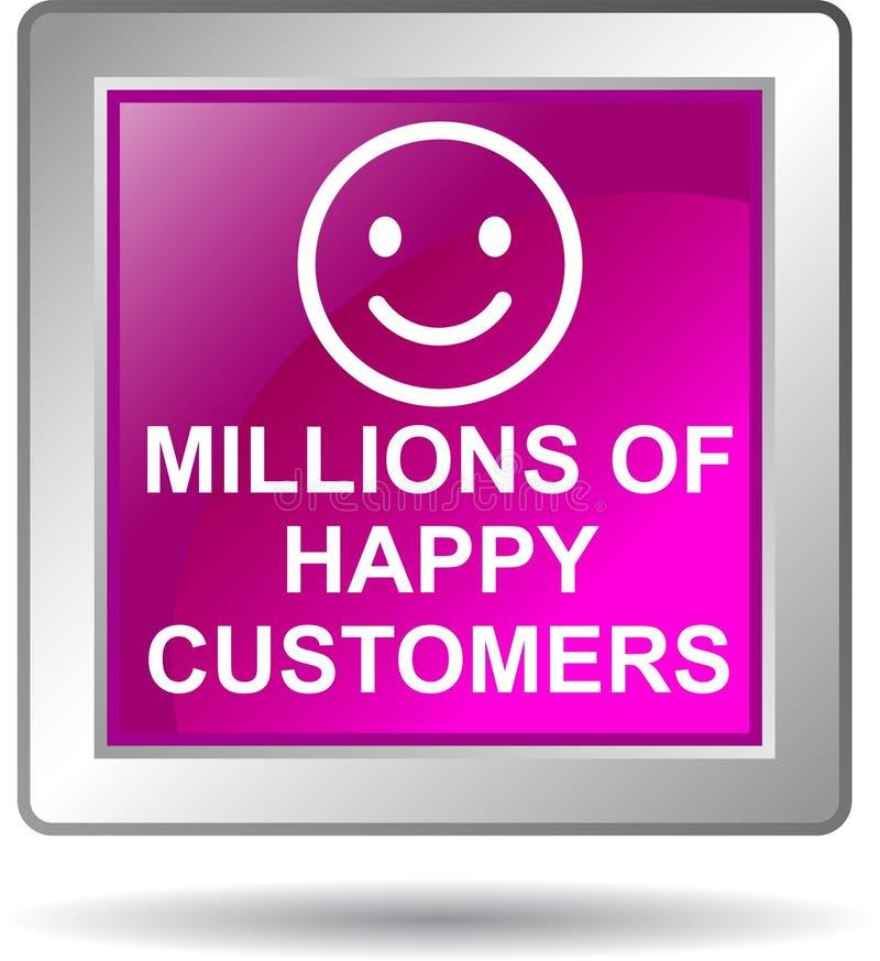 Miljoenen gelukkige klanten royalty-vrije illustratie