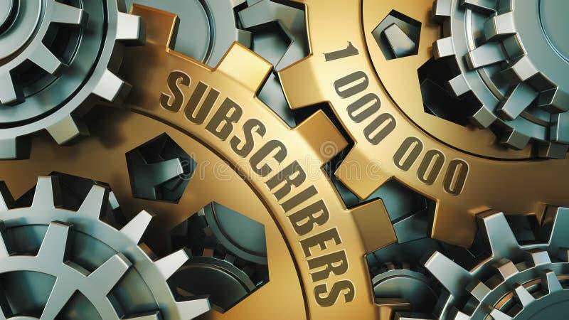1 miljon anhängare eller abonnenter framförande 3d 1000000 sociala massmediavänner vektor illustrationer