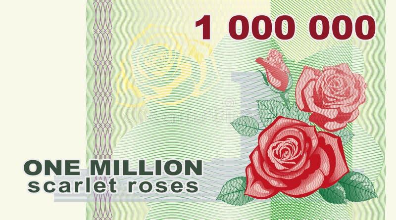 Miljon rosor royaltyfria foton