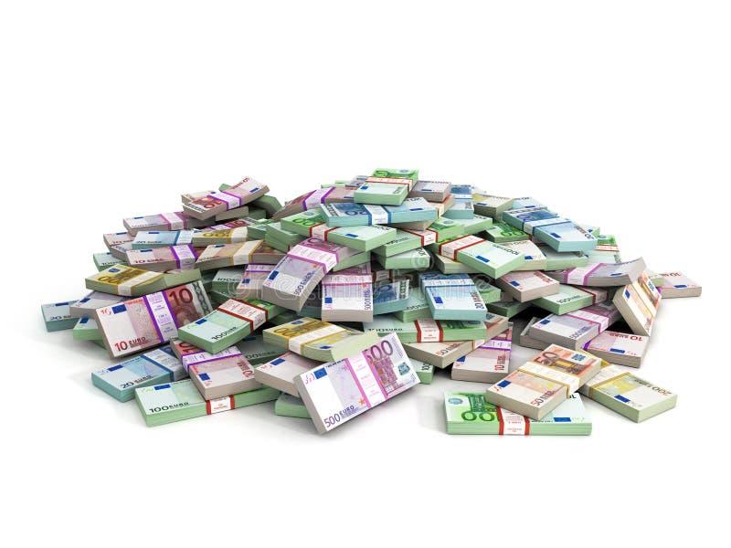 Miljoner av euro royaltyfri illustrationer