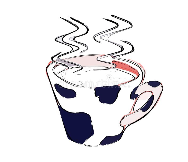 Download Cup Of Steaming Hot Milk Isolated Stock Illustration - Image: 11183808