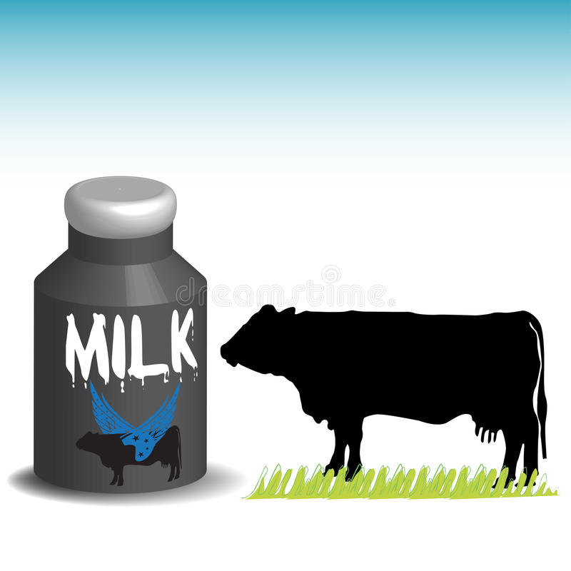 Download Milk stock vector. Image of cattle, fresh, colorful, liquid - 12493208
