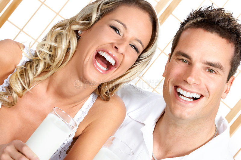 Download Milk stock image. Image of beautiful, healthy, lunch, couple - 5319853