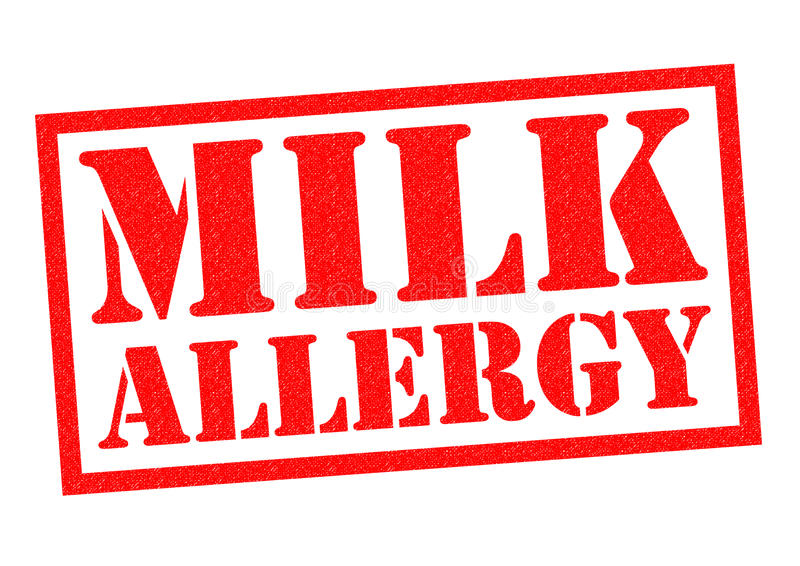 MILK ALLERGY royalty free illustration