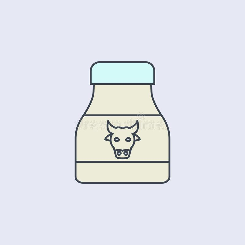 Milk bank colored outline icon. One of the collection icons for websites, web design, mobile app. On light background vector illustration