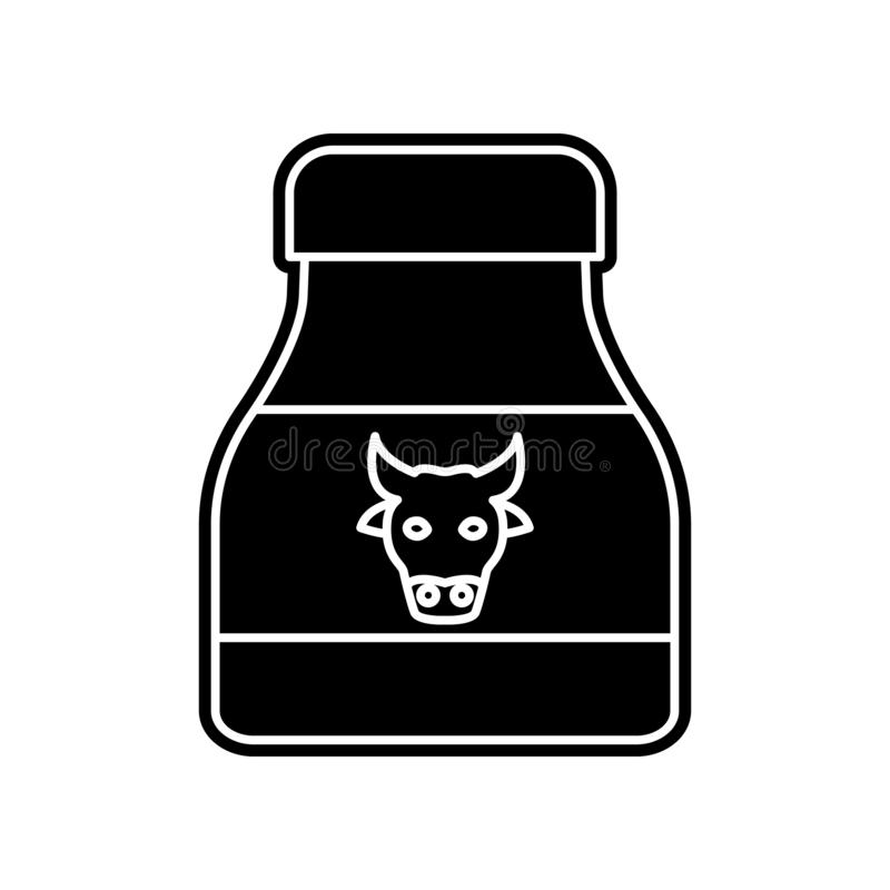 Milk bank icon. Element of Hipermarket for mobile concept and web apps icon. Glyph, flat icon for website design and development,. App development on white stock illustration