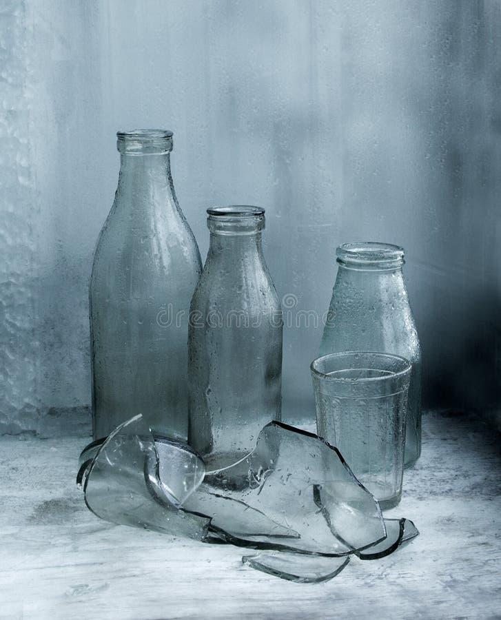 Milk Behälter von UDSSR Zeit lizenzfreie stockfotos