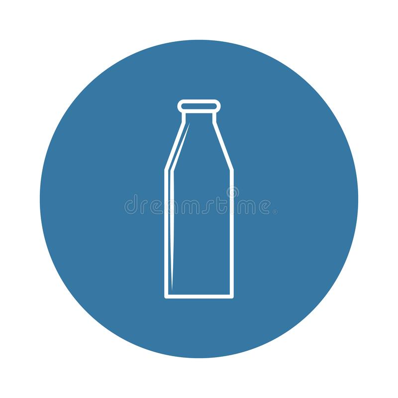 milk bottle icon. Element of bottle icons for mobile concept and web apps. Badge style milk bottle icon can be used for web and mo stock illustration