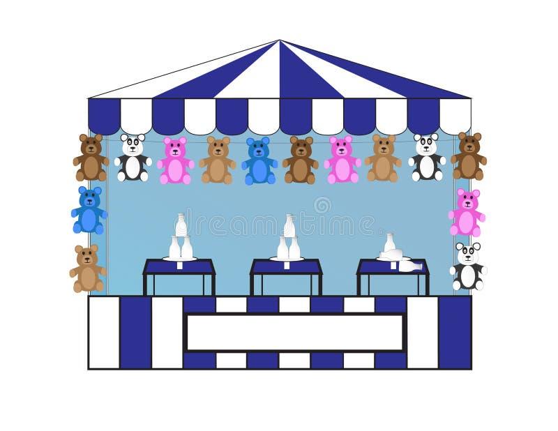 Download Milk Bottle Toss stock vector. Illustration of game, carnival - 31489524