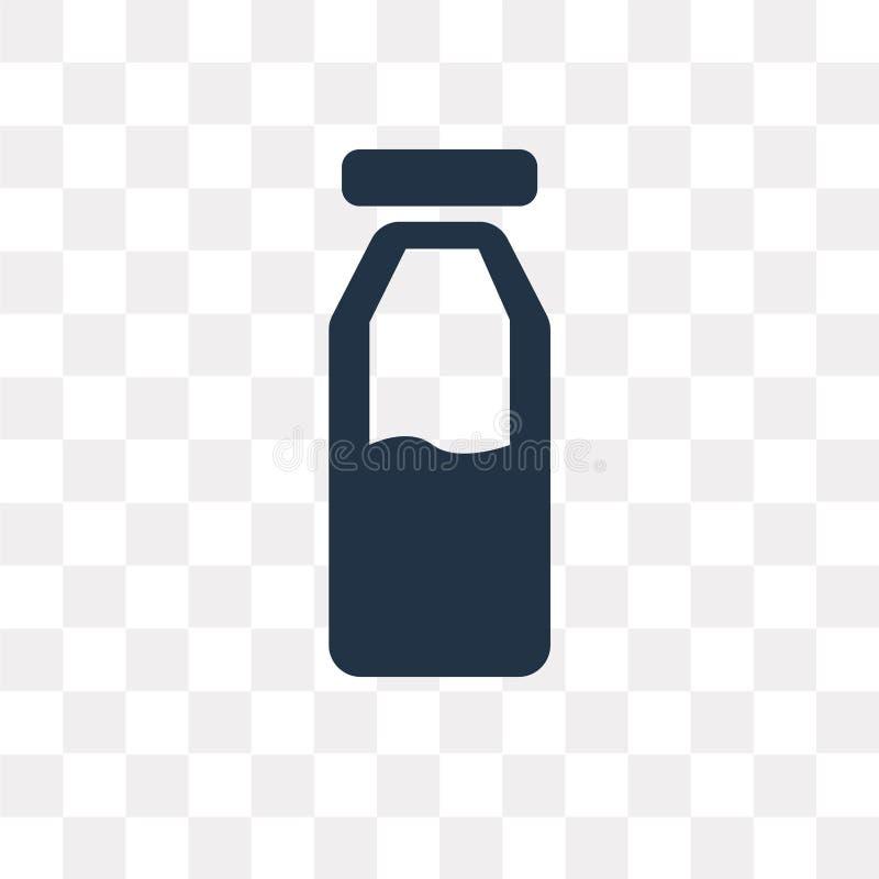Milk bottle vector icon isolated on transparent background, Milk stock illustration