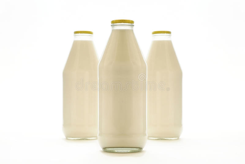 Milk Bottles Stock Photos