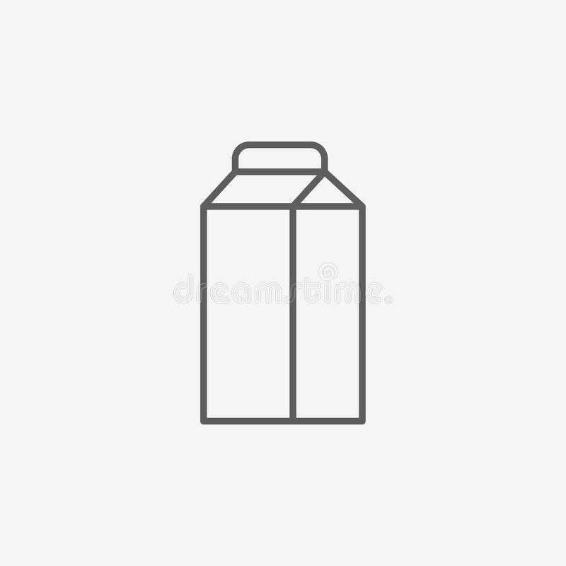 Milk box icon royalty free illustration