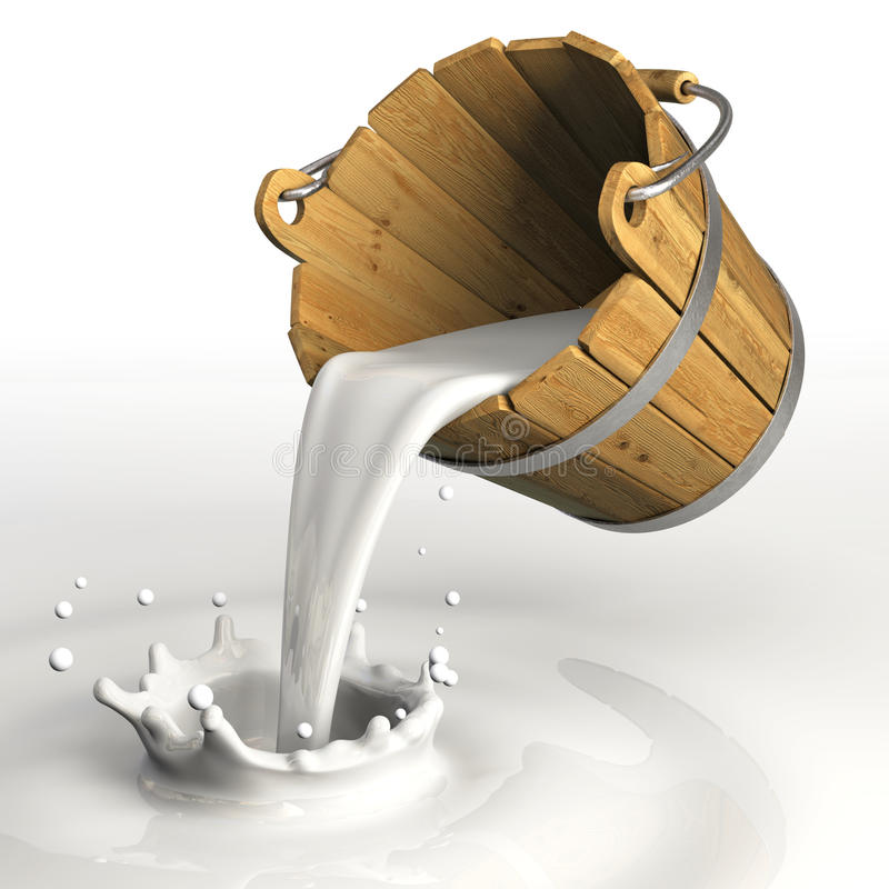Milk Bucket Royalty Free Stock Images