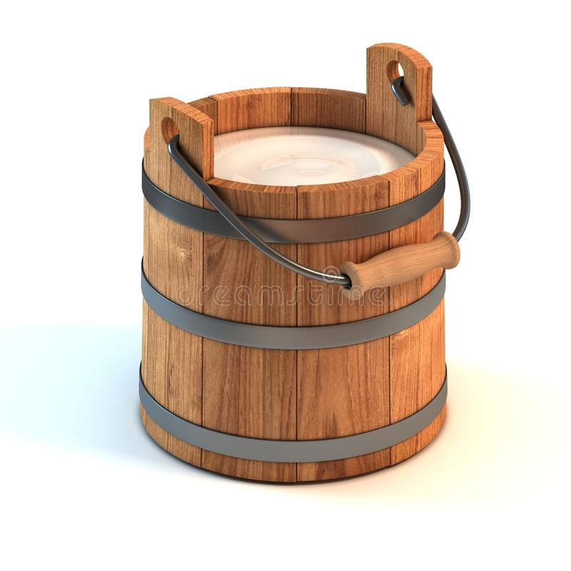 Milk bucket stock illustration