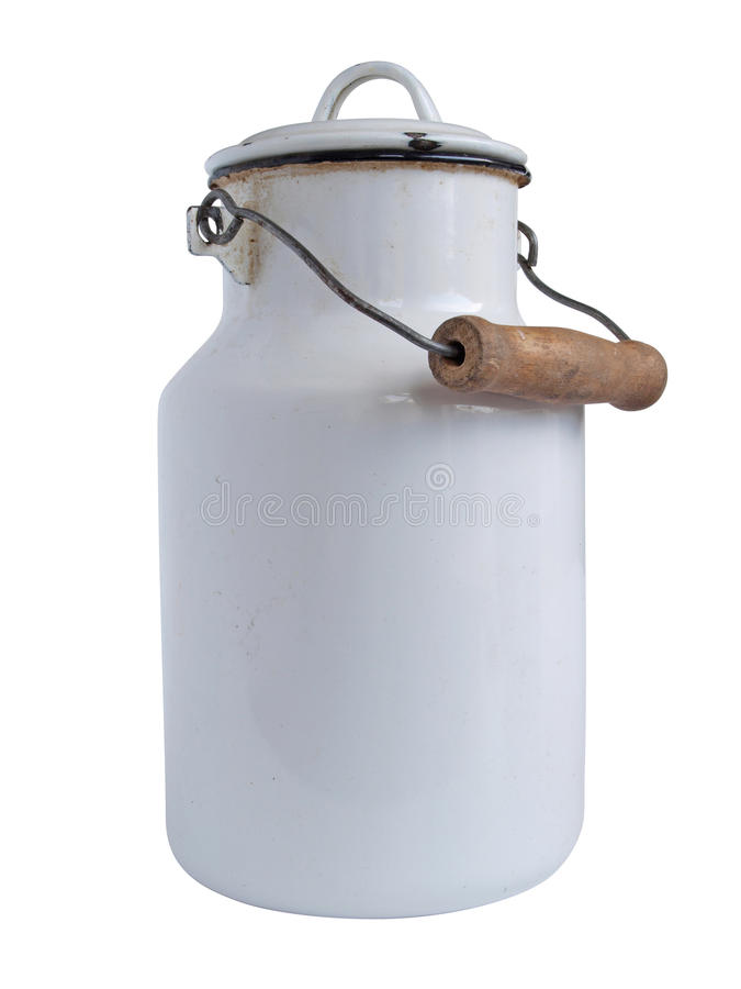 Milk can stock image