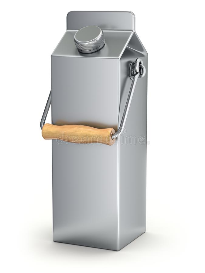 Milk can package concept royalty free illustration