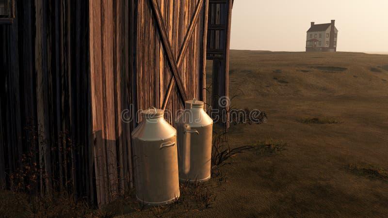 Download Milk Cans stock illustration. Illustration of building - 19884616