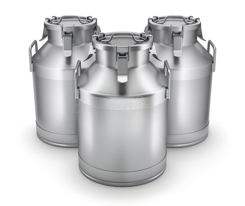 Milk cans with latch royalty free illustration
