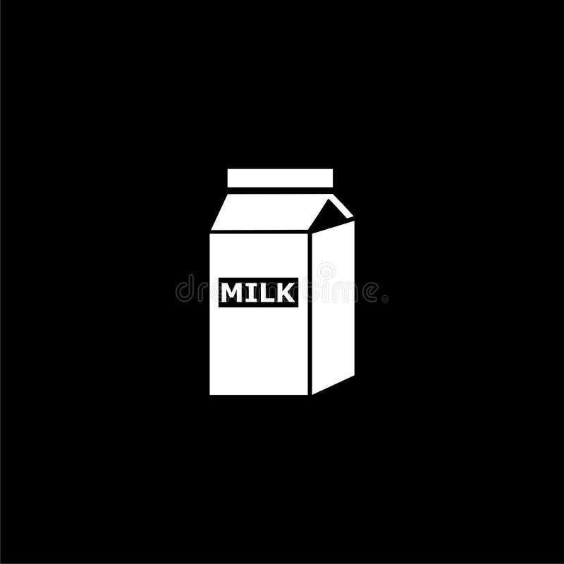Dark Paper Logo Mockup: Milk Carton On White Background Stock Vector