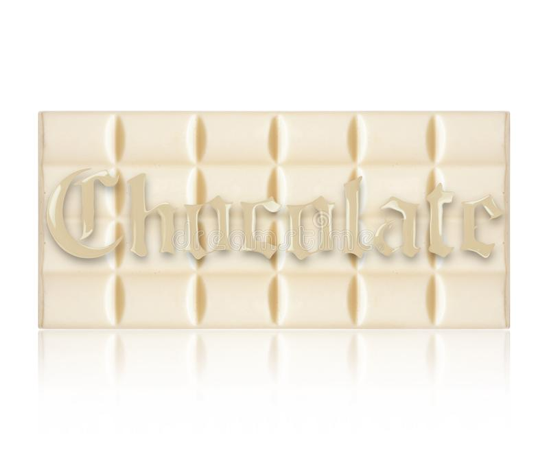 Milk chocolate bar with an inscription in the gothic style, isolated on white background vector illustration