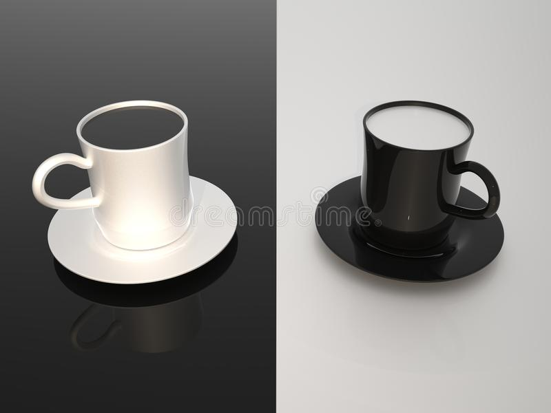 Milk and coffe vector illustration