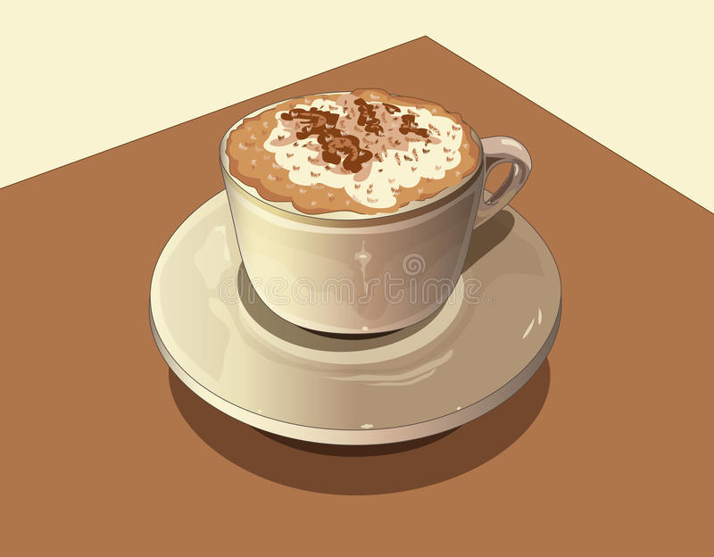 Download Milk and coffee stock illustration. Illustration of expresso - 25173058