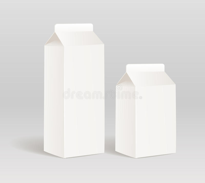 Download Milk container stock vector. Illustration of paper, blank - 25403520