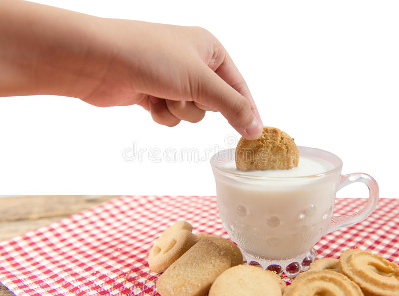 Milk cookies stock images