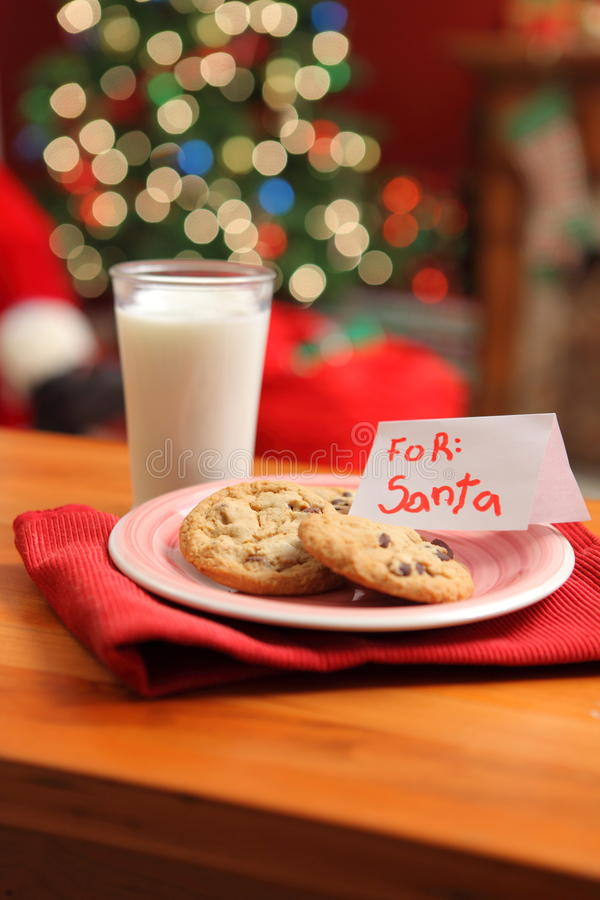 Download Milk and cookies for Santa stock image. Image of claus - 11259883