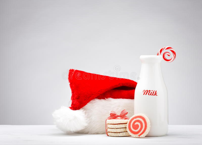 Milk and Cookies for Santa royalty free stock photos