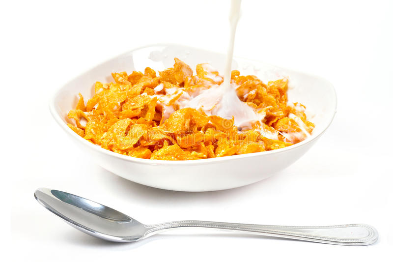Download Milk With Corn Flakes For Breakfast Stock Image - Image: 22844551