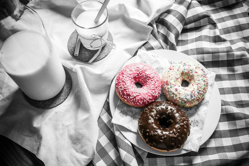Milk And Donuts Free Public Domain Cc0 Image