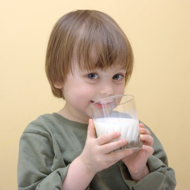 Milk drinking royalty free stock photography