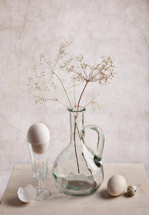 Milk and Eggs. Still Life with Milk and Eggs stock photos