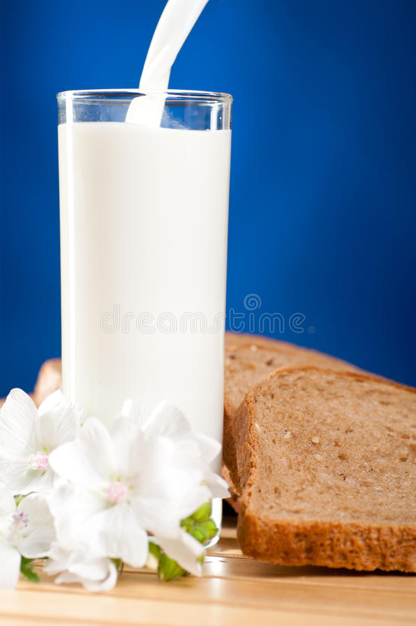 Download Milk is flowing stock photo. Image of cream, bread, sliced - 20284798