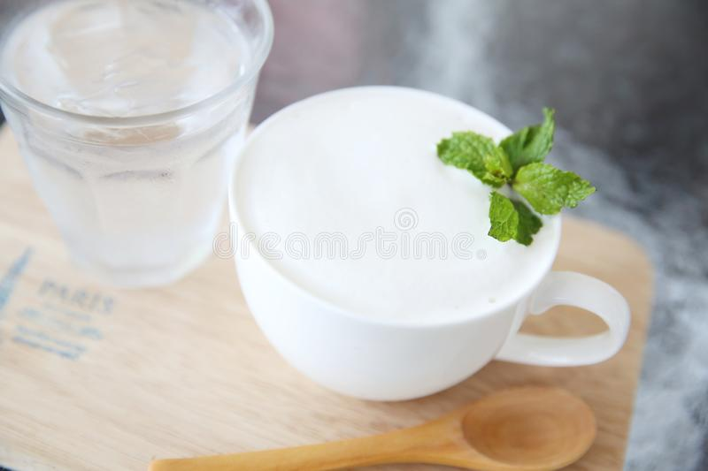Milk in the glass stock images