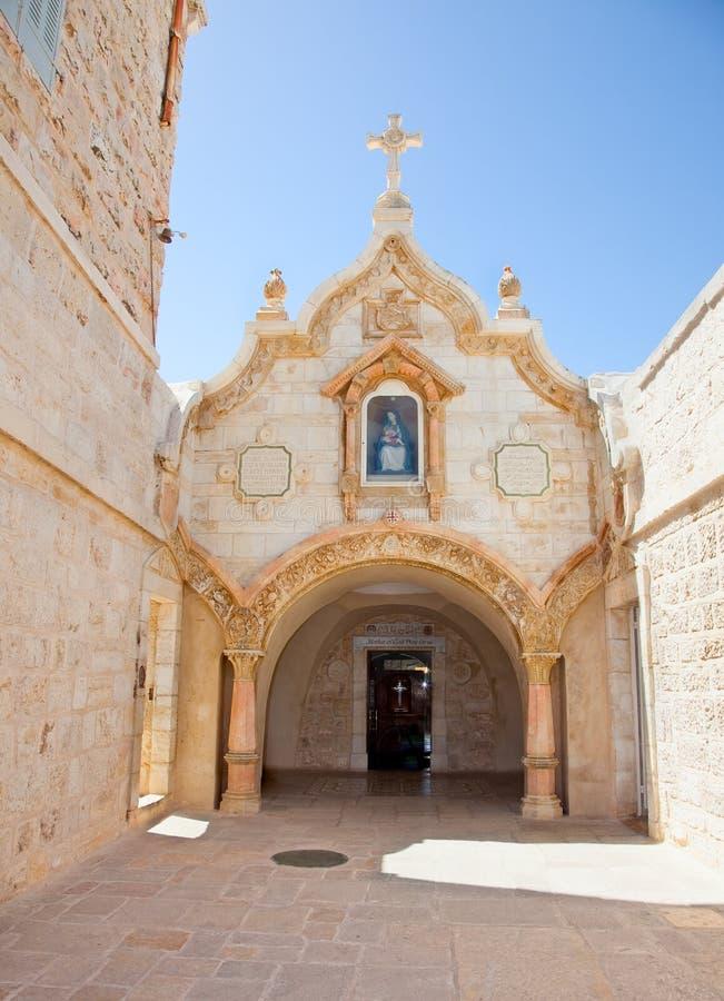 Milk Grotto church in Bethlehem, Palestine. Milk Grotto church of the Virgin Mary in Bethlehem, Palestine, Israel stock image