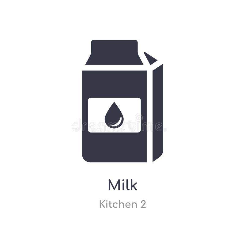 milk icon. isolated milk icon vector illustration from kitchen 2 collection. editable sing symbol can be use for web site and royalty free illustration
