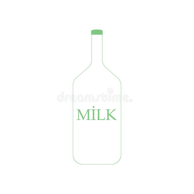 Milk icon vector sign and symbol isolated on white background, Milk logo concept stock illustration