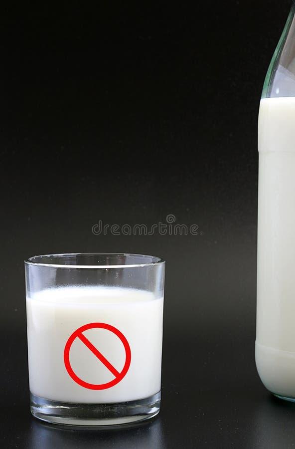 Milk intolerance stock images