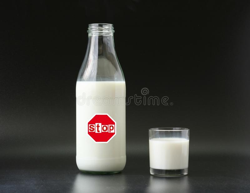 Milk intolerance royalty free stock photography
