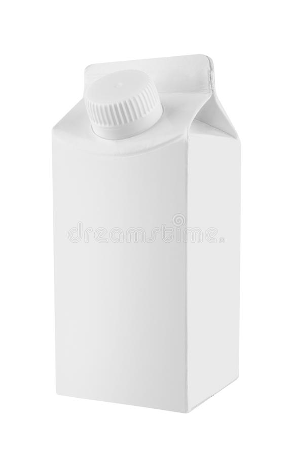 Milk and juice white carton package royalty free stock images