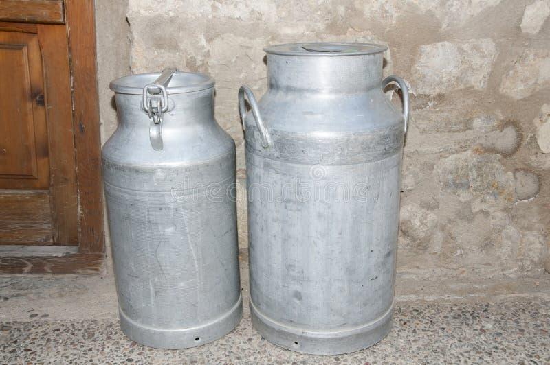 Milk Kegs. In Small Village royalty free stock photo