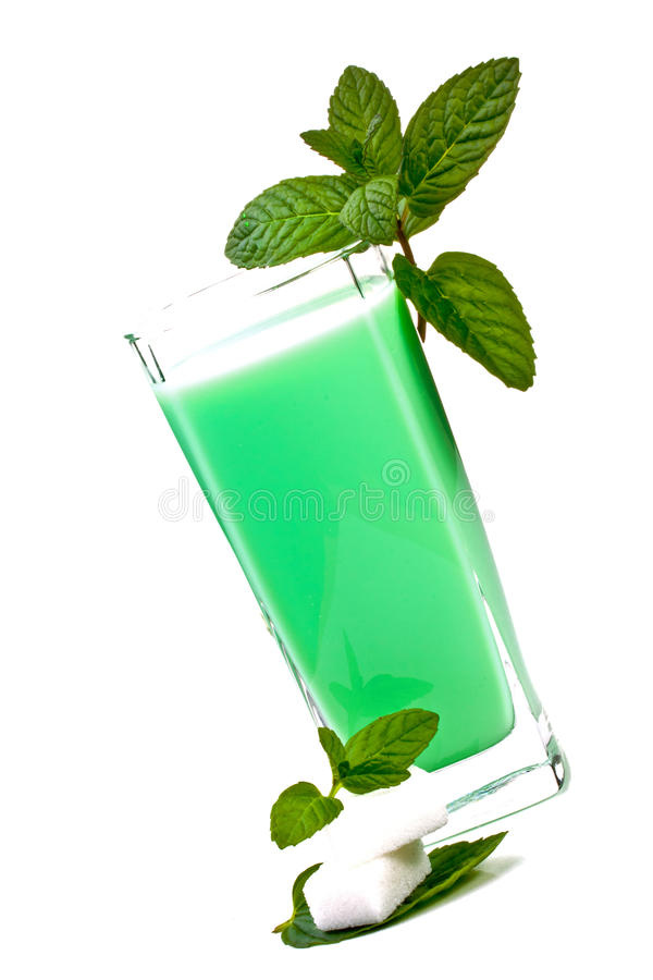Download Milk and mint stock image. Image of fresh, leaves, soda - 22928969