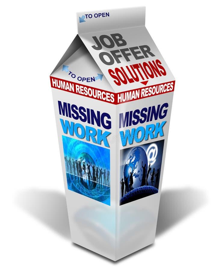 Milk missing work royalty free illustration
