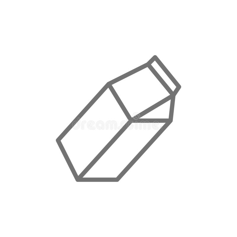 Milk pack, paper box for juice line icon. royalty free illustration