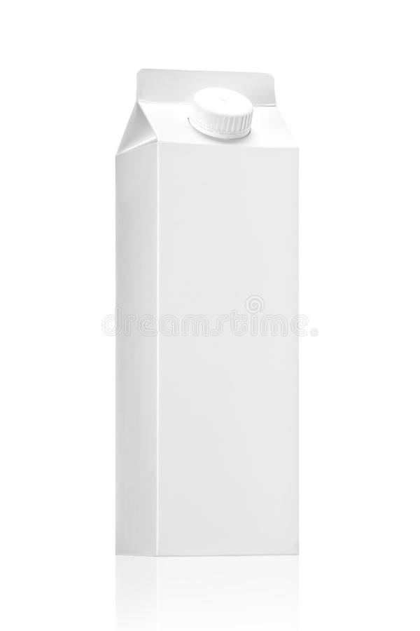 Milk package or juice pack on white background royalty free stock image